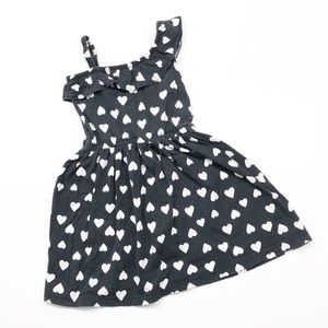 Carter's black & white heart print girls dress